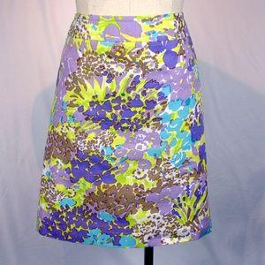 Talbot's floral a-line career sprint skirt 4